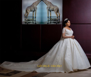 Nigerian Brides who wore Nigerian bridal designs - Maryanne Ifeoma in JBecks Bridals LoveWeddingsNG