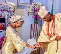 Vice President Osinbajo's daughter weds Damilola Osinbajo and Oluseun Bakare Traditional Wedding LoveWeddingsNG 4