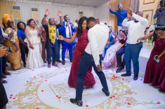 Nigerian Wedding Chidinma and Christian's White Wedding Bridesmaid and Groomsman Dance Off LoveWeddingsNG