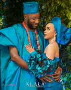 Stephanie Eze and Soji Ogundoyin's Igbo - Yoruba Traditional Wedding Couple LoveWeddingsNG