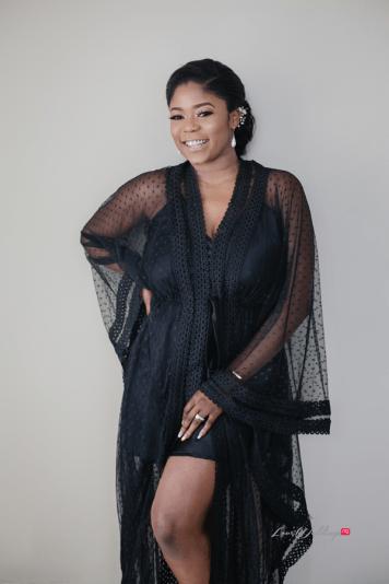 Bride in black bridal robe #Ayowa18 Wani Olatunde Photography LoveWeddingsNG