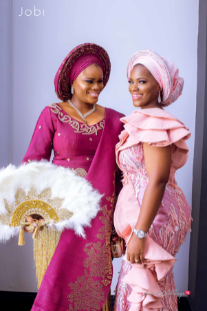 Nigerian Traditional Wedding Tobi and Efe #TheObodos Planned by MoAmber Concepts LoveWeddingsNG - Bride with friend