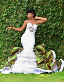 Ghanaian Kente Wedding Dress by Avonsige LoveWeddingsNG