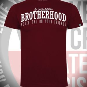 CAMIISETA BROTHERHOOD-GRANATE