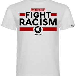 T-SHIRT FIGHT RACISM - Color Blanco y Rojo-
