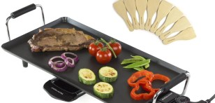Andrew James Electric Teppanyaki Barbecue Table Grill Griddle