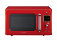red coloured microwave