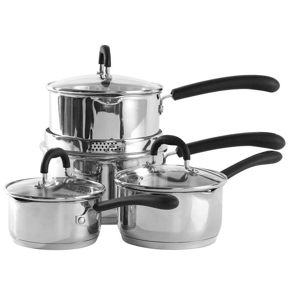 procook gourmet steel saucepan set uk review love your. Black Bedroom Furniture Sets. Home Design Ideas