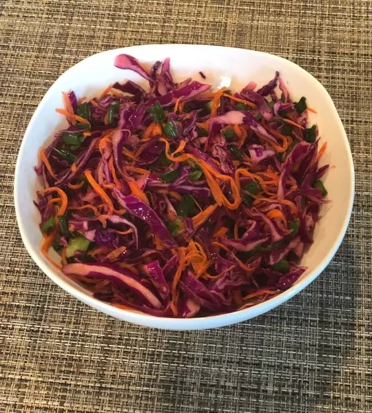 Red cabbage slaw Simple Recipe and Delicious..