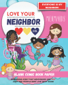 Book Cover: Blank Comic Book Paper: Love Your Neighbor Company - Mermaids
