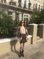 London, day to evening outfit