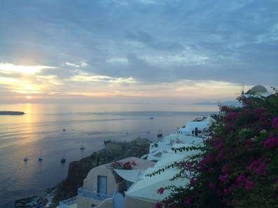 Beautiful sunsets in Santorini