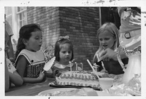Me blowing out the candles on my 5th birthday