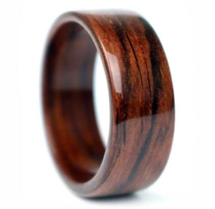 Wood Wedding Band.Wooden Wedding And Engagement Rings