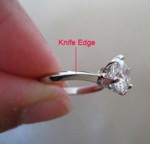 diamond engagement ring knife edge mounting