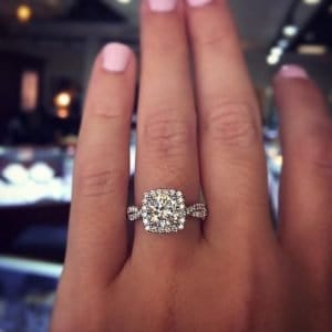 best cushion cut diamond ring