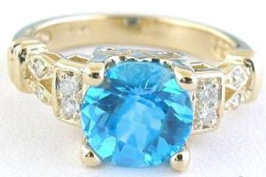 blue topaz wedding ring