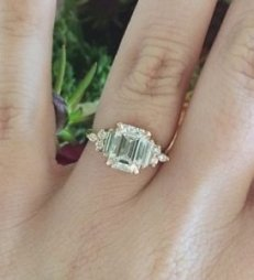 emerald cut engagement ring custom art deco