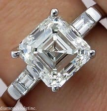 joop asscher cut diamond engagement ring