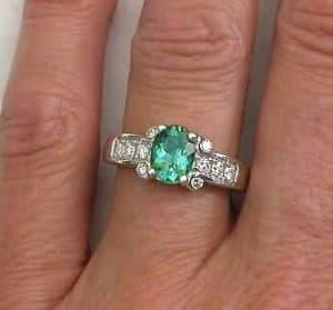 seafoam green engagement ring   Seafoam Green Tourmaline Engagement Ring