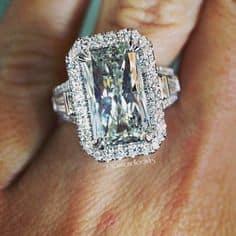 9 carat radiant cut engagement ring