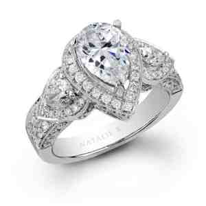 nataliek 14k white gold pear shaped diamond engagement ring