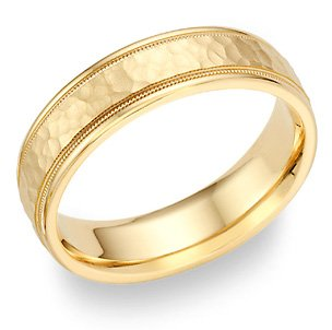 gold-hammered-wedding-band