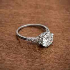 stunning Antique Edwardian Engagement Ring.