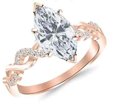 0-74-carat-twisting-infinity-gold-and-diamond-split-shank-pave-set-diamond-engagement-ring-with-a-0-61-carat-marquise-cut-f-color-si2