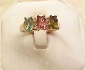 dazzling-3-stone-natural-cuprian-elbaite-tourmaline-diam-14k-yg-ring