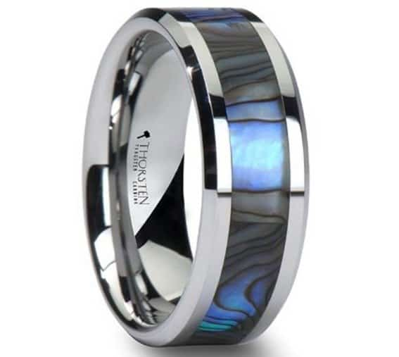 tungsten-wedding-band-with-mother-of-pearl-inlay-8mm-tungsten-carbide-ring-review