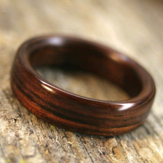Wood Mens Wedding Bands Canada: Types Of Wood For Rings Part 3, Purple Heart To Zebrawood