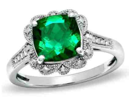 8-0mm-cushion-cut-lab-created-emerald-vintage-style-ring-in-sterling