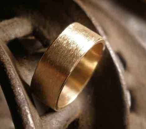 satin wedding engagement ring