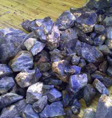 blue corundum from malawi