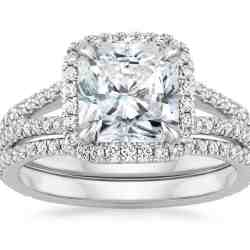 FORTUNA DIAMOND MATCHED SET WITH 0.75 CARAT RADIANT DIAMOND