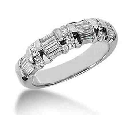 18K Gold Diamond Anniversary Wedding Ring 9 Round Brilliant Diamonds