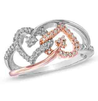 interlocking heart promise rings