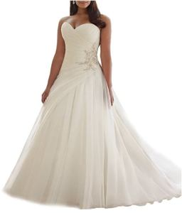 Beauty Bridal Sweetheart A Line Organza Bridal Gown Plus Size Wedding Dresses 2016 review