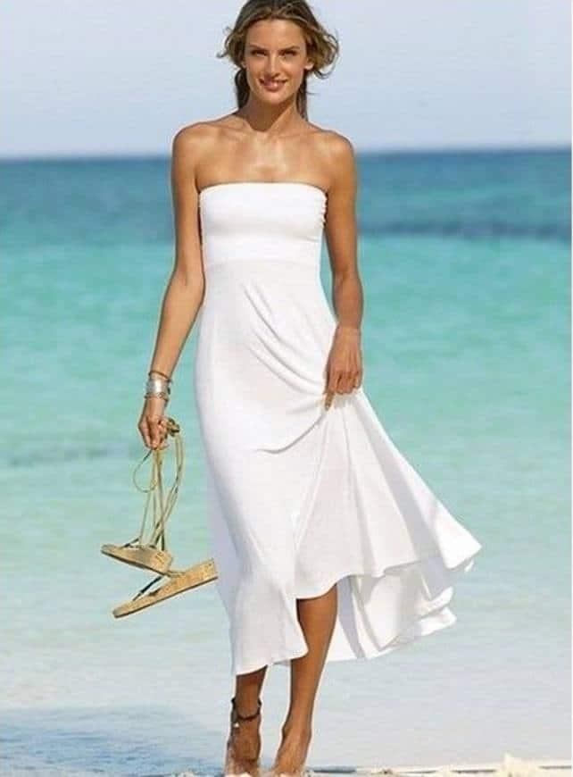 casual beach wedding bridal party