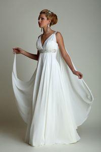 grecian wedding dress neckline