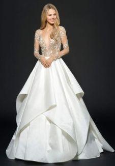natural waist wedding dress