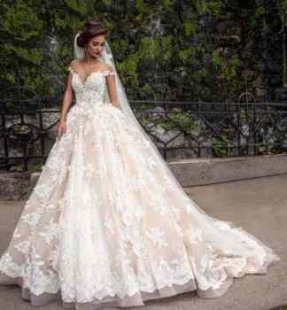 princess style wedding dress