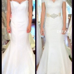 before and after wedding dress alterations