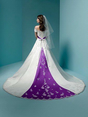change wedding dress color