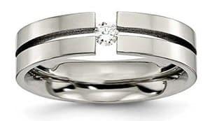 titanium diamond tension set