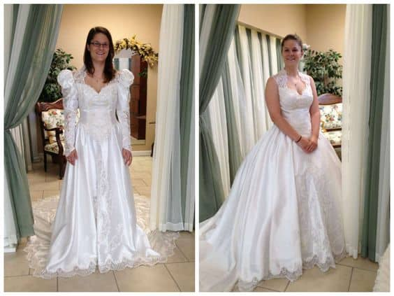 80s Puffy Wedding Dresses
