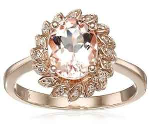 flower morganite oval cut