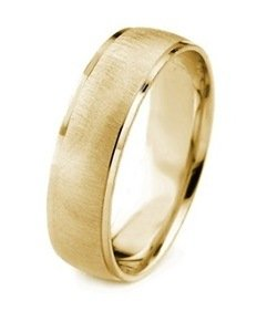 gold mens band satin finish