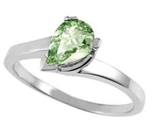 green amethyst pear shaped